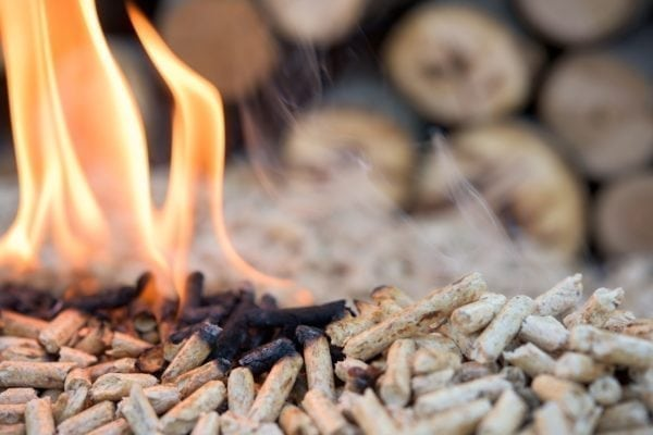 Picture of wooden pellets created using Multi Products auger motors