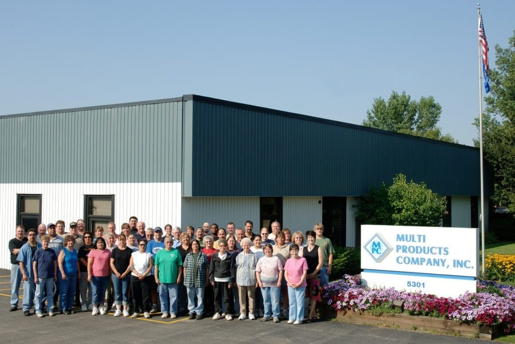 Picture of the Multi Products team outside of their building